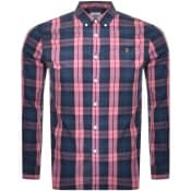 Product Image for Farah Vintage Brewer Tartan Shirt Pink