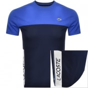 Product Image for Lacoste Sport Performance Block Logo T Shirt Blue