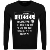 Product Image for Diesel S Girk J3 Sweatshirt Black