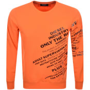 Product Image for Diesel S Girk S1 Sweatshirt Orange