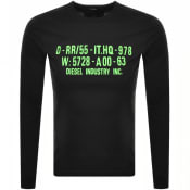 Product Image for Diesel Long Sleeved T Diego Logo T Shirt Black