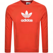 Product Image for adidas Originals Crew Neck Logo Sweatshirt Red