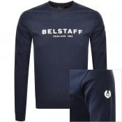 Product Image for Belstaff 1924 Crew Neck Sweatshirt Navy