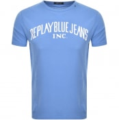 Product Image for Replay Crew Neck Logo T Shirt Blue