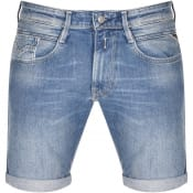 Product Image for Replay Anbass Slim Fit Denim Shorts Blue