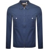 Product Image for Pretty Green Section Zip Overshirt Navy