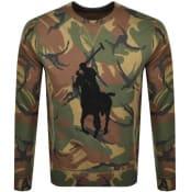Product Image for Ralph Lauren Camouflage Crew Neck Sweatshirt Brown