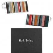 Product Image for PS By Paul Smith Stripe Cufflinks Set Silver