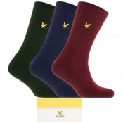 Product Image for Lyle And Scott Gift Set Three Pack Logo Socks