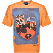 Product Image for Versace Jeans Couture Logo T Shirt Orange