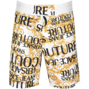 Product Image for Versace Jeans Couture Logo Shorts White
