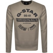 Product Image for G Star Raw Originals Crew Neck Sweatshirt Green