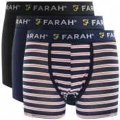 Product Image for Farah Vintage Arkona 3 Pack Boxer Shorts Navy