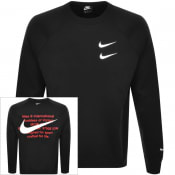 Product Image for Nike Crew Neck Swoosh Sweatshirt Black