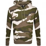 Product Image for Nike Camouflage Club Hoodie Green