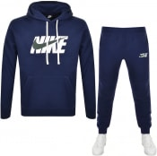 Product Image for Nike Standard Fit Logo Fleece Tracksuit Navy