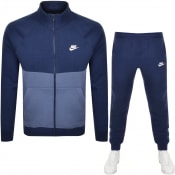 Product Image for Nike Standard Fit Fleece Tracksuit Navy