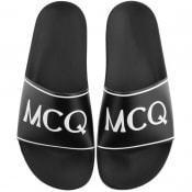Product Image for MCQ Alexander McQueen Infinity Sliders Black