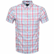 Product Image for Gant Oxford Plaid Regular Short Sleeved Shirt Blue