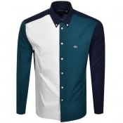Product Image for Lacoste Colour Block Long Sleeved Shirt Blue