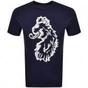 Product Image for Luke 1977 Amazing Flocker LogoT Shirt Navy