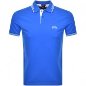 Product Image for BOSS Athleisure Paul Curved Polo T Shirt Blue