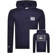 Product Image for Lacoste Pullover Logo Hoodie Navy