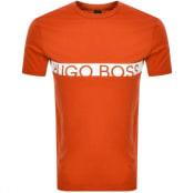 Product Image for BOSS HUGO BOSS Slim Fit UV Logo T Shirt Orange