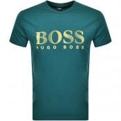 Product Image for BOSS HUGO BOSS UV Protection Logo T Shirt Green