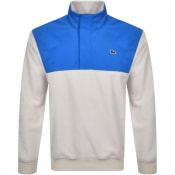 Product Image for Lacoste Live Half Zip Sweatshirt Beige
