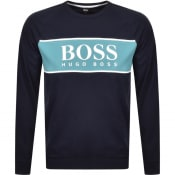 Product Image for BOSS Bodywear Authentic Crew Neck Sweatshirt Navy