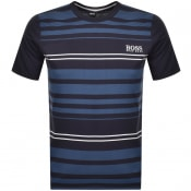 Product Image for BOSS HUGO BOSS Stripe Crew Neck T Shirt Navy