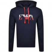 Product Image for Emporio Armani Lounge Logo Hoodie Navy