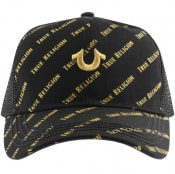 Product Image for True Religion Repeat Trucker Logo Cap Black