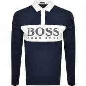 Product Image for BOSS Athleisure Long Sleeved Polo T Shirt Navy