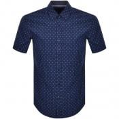 Product Image for BOSS HUGO BOSS Ronn 2 Slim Short Sleeve Shirt Navy