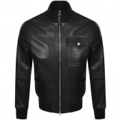 Product Image for BOSS Gatek Leather Jacket Black