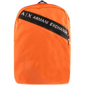 Product Image for Armani Exchange Logo Backpack Orange