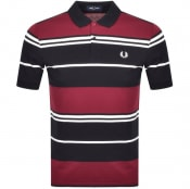 Product Image for Fred Perry Striped Polo T Shirt Black