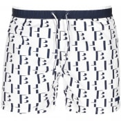 Product Image for BOSS HUGO BOSS Seahorse Swim Shorts White