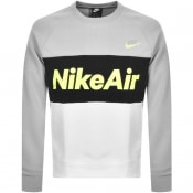 Product Image for Nike Air Crew Neck Logo Sweatshirt Grey