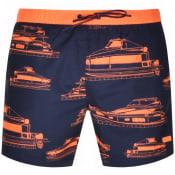 Product Image for BOSS HUGO BOSS Piranha Swim Shorts Navy
