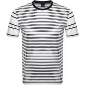 Product Image for BOSS Tiburt Stripe T Shirt White