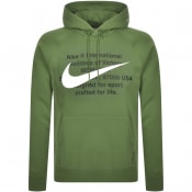 Product Image for Nike Swoosh Logo Hoodie Green