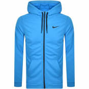 Product Image for Nike Training Full Zip Dri Fit Logo Hoodie Blue
