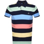 Product Image for Gant Barstripe Rugger Polo T Shirt Navy
