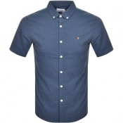 Product Image for Farah Vintage Steen Slim Short Sleeved Shirt Blue