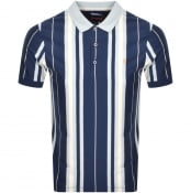 Product Image for Farah Vintage Wigwam Stripe Polo T Shirt Navy