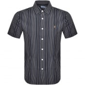 Product Image for Farah Vintage Seersucker Short Sleeve Shirt Navy