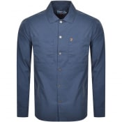 Product Image for Farah Vintage Dallam Long Sleeve Overshirt Blue